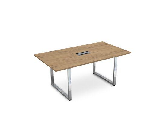 Стол для переговоров на О-образном металлокаркасе GLOSS LINE ALSAV НСП-О.938 TEAKWOOD 1800х1000х750, Цвет товара: TeakWood
