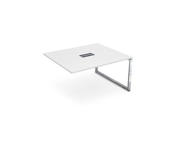 Конечный элемент переговорного стола на О-образном металлокаркасе GLOSS LINE ALSAV НСПК-О.927 БЕЛЫЙ ПРЕМИУМ 1400х1200х750, Цвет товара: Белый премиум