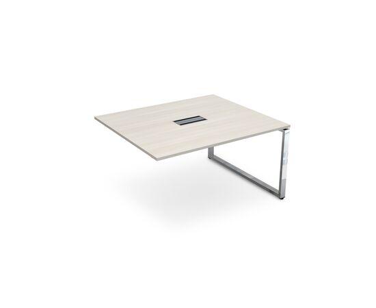 Конечный элемент переговорного стола на П-образном металлокаркасе GLOSS LINE ALSAV НСПК-П.927 IVORY 1400*1200*750, Цвет товара: Ivory