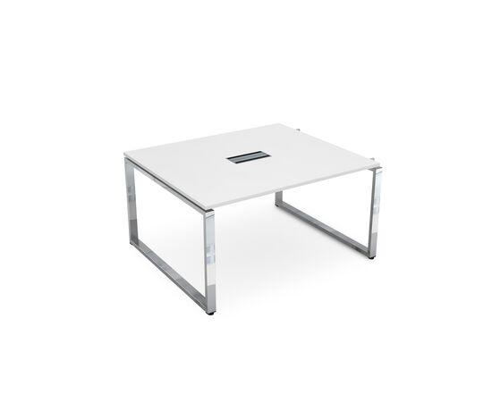Начальный элемент переговорного стола на О-образном металлокаркасе GLOSS LINE ALSAV НСПН-О.927 БЕЛЫЙ ПРЕМИУМ  1400х1200х750, Цвет товара: Белый премиум