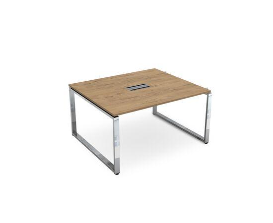 Начальный элемент переговорного стола на О-образном металлокаркасе GLOSS LINE ALSAV НСПН-О.927 TEAKWOOD 1400х1200х750, Цвет товара: TeakWood