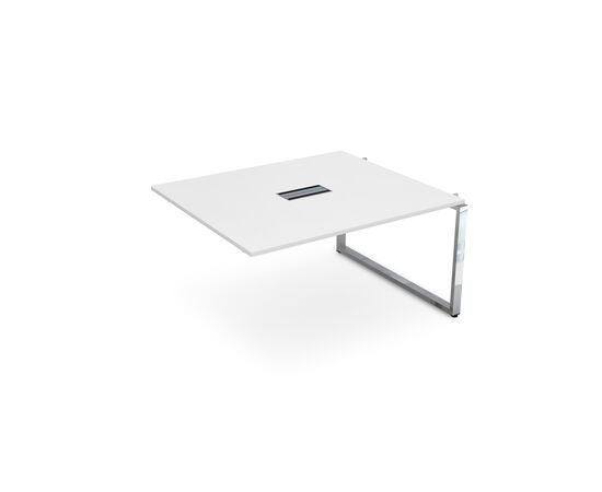 Средний элемент переговорного стола на О-образном металлокаркасе GLOSS LINE ALSAV НСПС-О.927  БЕЛЫЙ ПРЕМИУМ 1400х1200х750, Цвет товара: Белый премиум