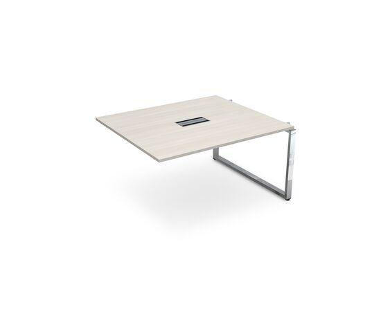 Средний элемент переговорного стола на О-образном металлокаркасе GLOSS LINE ALSAV НСПС-О.927 IVORY 1400х1200х750, Цвет товара: Ivory