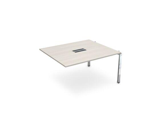Средний элемент переговорного стола на П-образном металлокаркасе GLOSS LINE ALSAV НСПС-П.927 IVORY 1400х1200х750, Цвет товара: Ivory