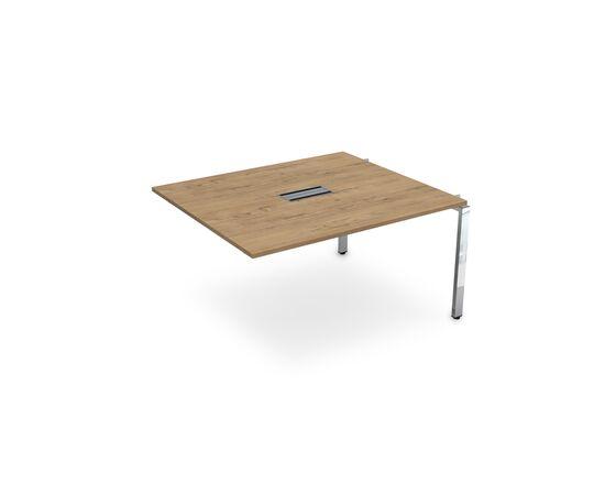 Средний элемент переговорного стола на П-образном металлокаркасе GLOSS LINE ALSAV НСПС-П.927 TEAKWOOD 1400х1200х750, Цвет товара: TeakWood