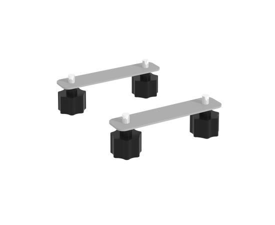 Соединительные элементы стола складного мобильного СЭ 130х30х3 Серый