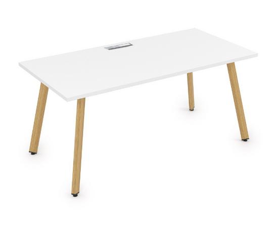 Стол прямой письменный Arredo ALSAV 10СР.084 Белый премиум/ Iron Wood  1600х800х750, Цвет товара: Белый премиум / Iron wood