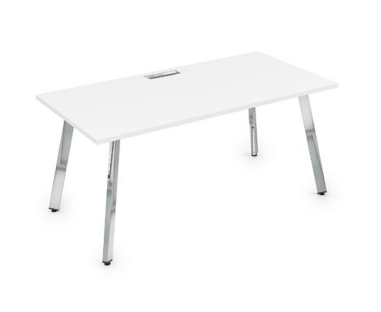 Стол прямой письменный Arredo ALSAV 10СР.084 Белый премиум / Глянец 1600х800х750, Цвет товара: Белый премиум /  глянец