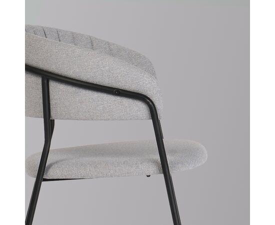 Стул Turin светло-серая рогожка с чёрными ножками Bradex Home, изображение 4