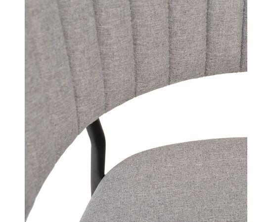 Стул Turin светло-серая рогожка с чёрными ножками Bradex Home, изображение 6