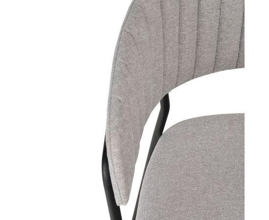 Стул Turin светло-серая рогожка с чёрными ножками Bradex Home, изображение 7