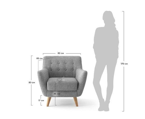 Кресло мягкое Picasso бирюзовый Bradex Home, Цвет товара: Бирюзовый, изображение 3
