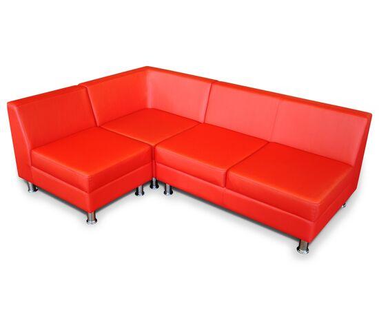 Диван угловой модульный Омега Люкс 1880/1320х760х680 Экокожа Alfa, Цвет товара: Красный