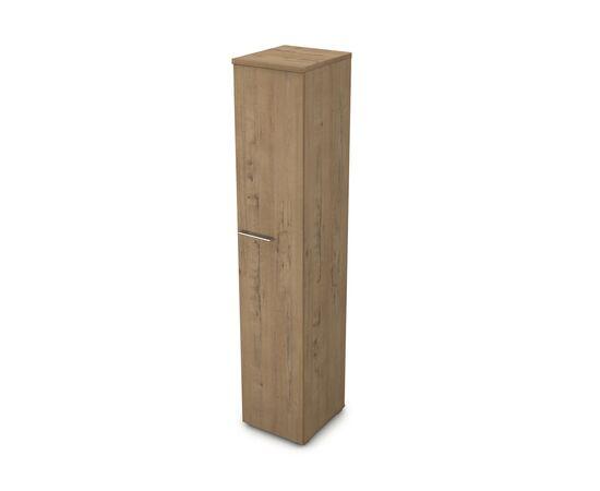 Шкаф для документов узкий высокий GLOSS LINE ALSAV 9НП.005.1 TEAKWOOD 400*450*2045, Цвет товара: TeakWood