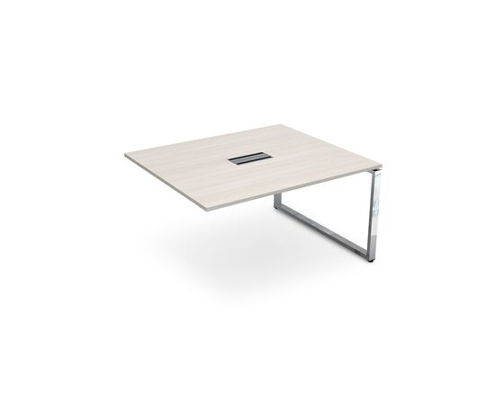Конечный элемент переговорного стола на О-образном металлокаркасе GLOSS LINE ALSAV НСПК-О.927 IVORY 1400х1200х750, Цвет товара: Ivory