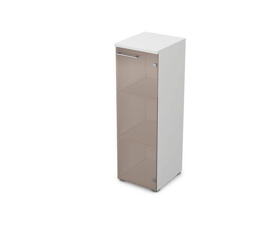 Шкаф для документов узкий средний правый GLOSS LINE ALSAV 9НП.017.3 БЕЛЫЙ ПРЕМИУМ 400*450*1245, Цвет товара: Белый премиум