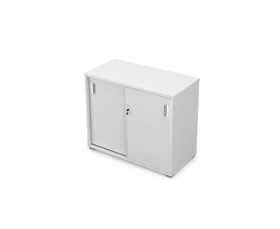 Шкаф купе низкий GLOSS LINE ALSAV 9НШКЗ.003 БЕЛЫЙ ПРЕМИУМ 900*450*750, Цвет товара: Белый премиум