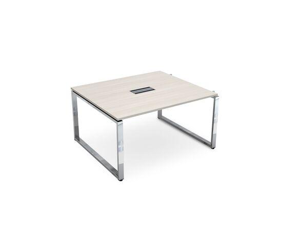 Начальный элемент переговорного стола на О-образном металлокаркасе GLOSS LINE ALSAV НСПН-О.927 IVORY 1400х1200х750, Цвет товара: Ivory