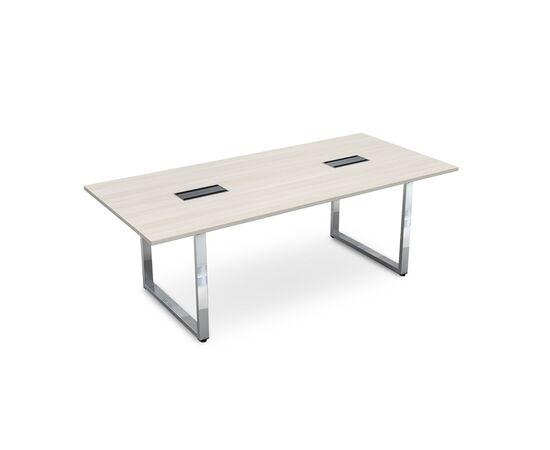Стол для переговоров на О-образном металлокаркасе GLOSS LINE ALSAV НСП-О.939 IVORY 2200х1000х750, Цвет товара: Ivory
