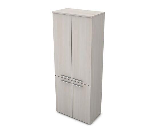 Шкаф для документов высокий GLOSS LINE ALSAV 9НШ.005.5 IVORY 800*450*2045, Цвет товара: Ivory