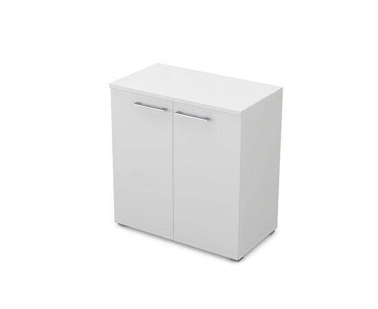 Шкаф для документов низкий GLOSS LINE ALSAV 9НШ.023.1 БЕЛЫЙ ПРЕМИУМ 800*450*845, Цвет товара: Белый премиум