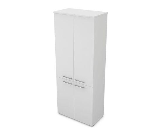 Шкаф для документов высокий GLOSS LINE ALSAV 9НШ.005.5 БЕЛЫЙ ПРЕМИУМ 800*450*2045, Цвет товара: Белый премиум