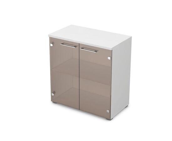 Шкаф для документов низкий GLOSS LINE ALSAV 9НШ.023.2 БЕЛЫЙ ПРЕМИУМ 800*450*845, Цвет товара: Белый премиум