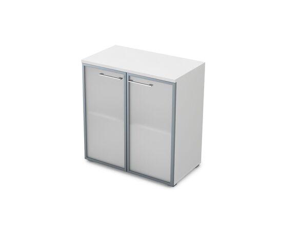 Шкаф для документов низкий GLOSS LINE ALSAV 9НШ.023.3 БЕЛЫЙ ПРЕМИУМ 800*450*845, Цвет товара: Белый премиум