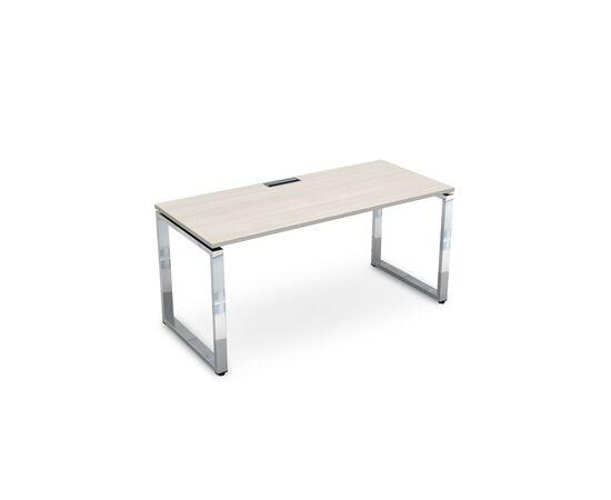 Стол прямой письменный  на О-образном металлокаркасе GLOSS LINE ALSAV НСР-О.004 IVORY 1600х700х750, Цвет товара: Ivory