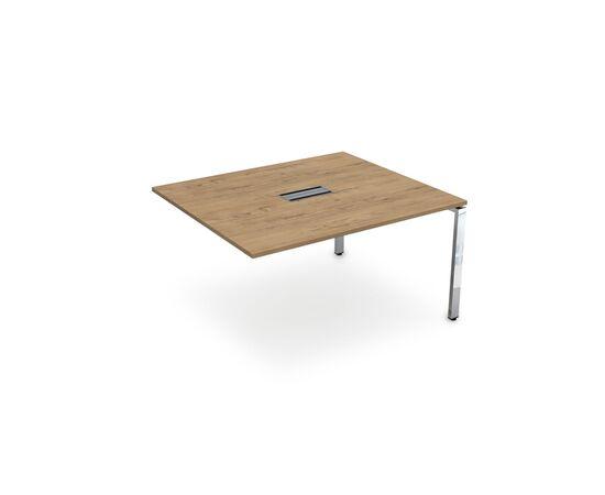 Конечный элемент переговорного стола на П-образном металлокаркасе GLOSS LINE ALSAV НСПК-П.927 TEAKWOOD 1400*1200*750, Цвет товара: TeakWood
