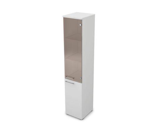 Шкаф для документов узкий высокий правый GLOSS LINE ALSAV 9НП.005.12 БЕЛЫЙ ПРЕМИУМ 400*450*2045, Цвет товара: Белый премиум
