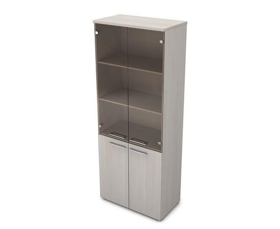 Шкаф для документов высокий GLOSS LINE ALSAV 9НШ.005.12 IVORY 800*450*2045, Цвет товара: Ivory