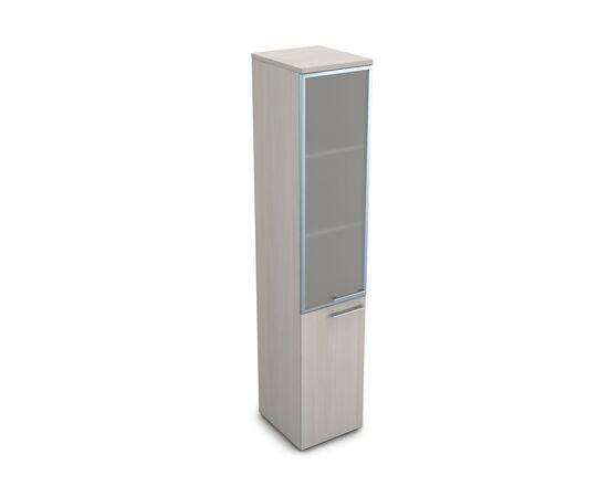 Шкаф для документов узкий высокий левый GLOSS LINE ALSAV 9НП.005.19 IVORY 400*450*2045, Цвет товара: Ivory