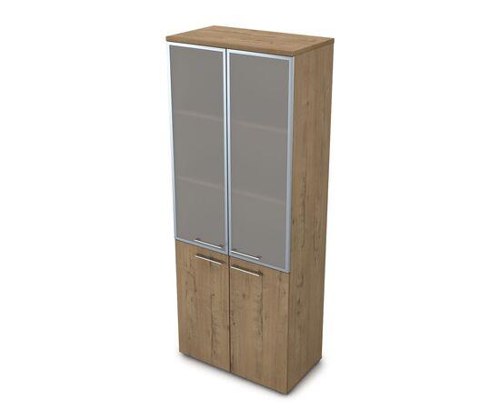 Шкаф для документов высокий GLOSS LINE ALSAV 9НШ.005.19 TEAKWOOD 800*450*2045, Цвет товара: TeakWood