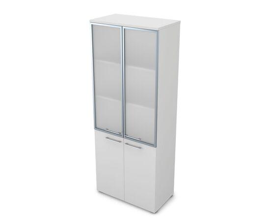 Шкаф для документов высокий GLOSS LINE ALSAV 9НШ.005.19 БЕЛЫЙ ПРЕМИУМ 800*450*2045, Цвет товара: Белый премиум