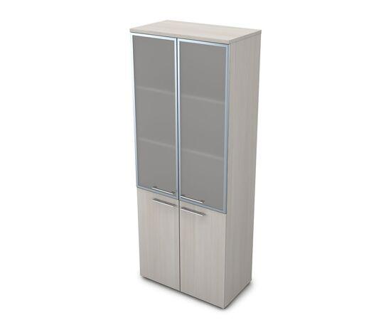 Шкаф для документов высокий GLOSS LINE ALSAV 9НШ.005.19 IVORY 800*450*2045, Цвет товара: Ivory