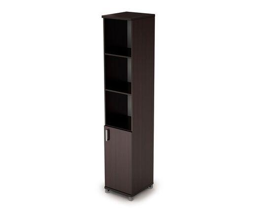 Шкаф для документов узкий (1 низкая дверь ЛДСП) AVANCE ALSAV  6П.005.2 Венге 400х450х2116, Цвет товара: Венге