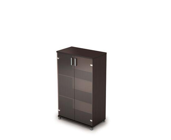 Шкаф для документов средний со стеклом AVANCE 6Ш.017.3 Венге 800х450х1348, Цвет товара: Венге