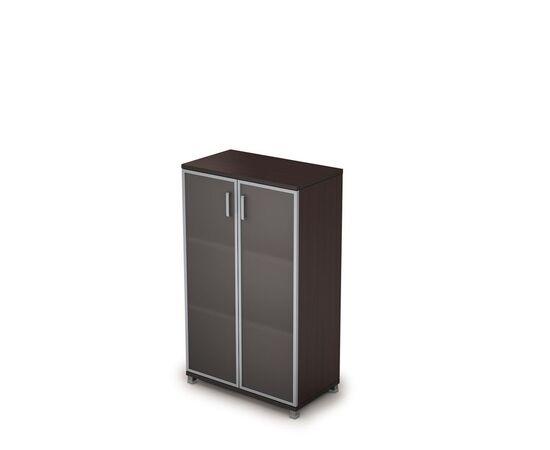 Шкаф для документов средний ( стеклянные двери в ал.раме ) AVANCE ALSAV  6Ш.017.4 Венге 800х450х1348, Цвет товара: Венге
