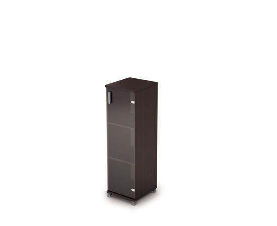 Шкаф для документов средний узкий ( дверь стекло без ал.рамы ) AVANCE ALSAV 6П.015.3 Венге 400х450х1348, Цвет товара: Венге