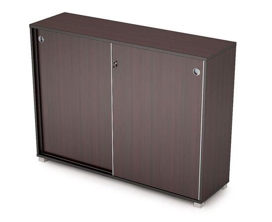 Шкаф-купе для документов в офис средний длинный  AVANCE 6ШКЗ.019 1637х400х1205 Венге (с замком) , Цвет товара: Венге