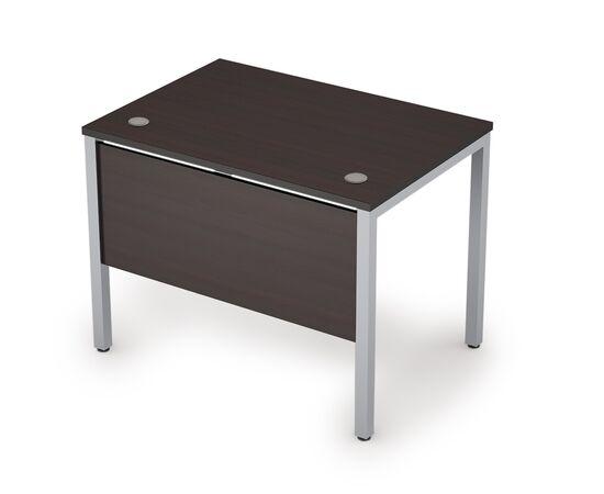 Стол прямой письменный на металлокаркасе (сечение опоры 40*40, с царгой ЛДСП ) AVANCE ALSAV 6МД.007 Венге  1000х700х750, Цвет товара: Венге /Алюминий матовый