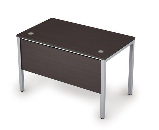 Стол прямой письменный на металлокаркасе (сечение опоры 40*40, с дер.царгой) AVANCE ALSAV 6МД.008 Венге 1200х700х750, Цвет товара: Венге /Алюминий матовый