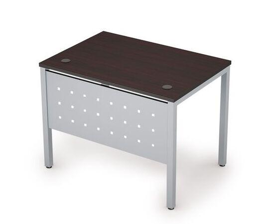 Стол прямой письменный на металлокаркасе (сечение опоры 40*40, с мет. царгой ) AVANCE ALSAV 6МК.069 Венге 1400х600х750, Цвет товара: Венге