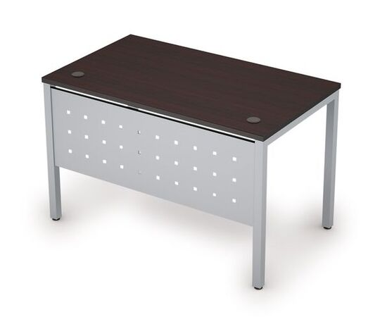 Стол прямой письменный на металлокаркасе (сечение опоры 40*40, с мет. царгой ) AVANCE ALSAV 6МК.008 Венге /ал. матовый 1200х700х750, Цвет товара: Венге /Алюминий матовый