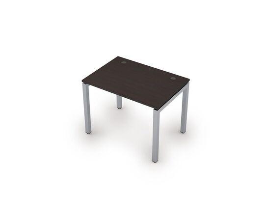 Стол прямой письменный на металлокаркасе (сечение 50х50,парящий эффект) AVANCE ALSAV 6М.507 Венге 1000х700х750, Цвет товара: Венге