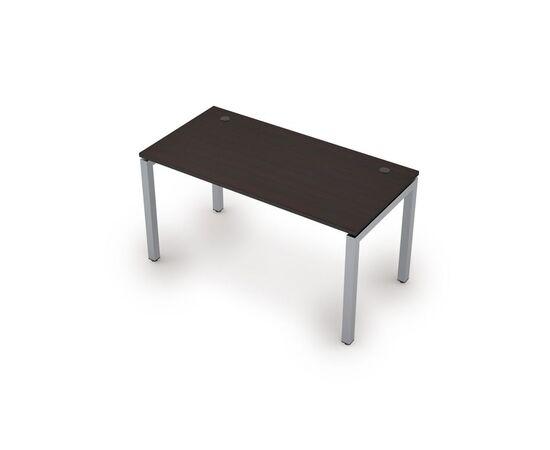 Стол прямой письменный на металлокаркасе (сечение 50х50,парящий эффект) AVANCE ALSAV 6М.509 Венге 1400х700х750, Цвет товара: Венге
