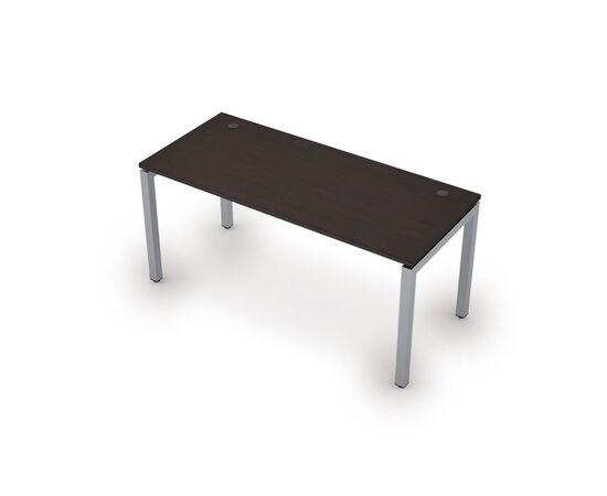 Стол прямой письменный на металлокаркасе (сечение 50х50,парящий эффект) AVANCE ALSAV 6М.504 Венге 1600х700х750, Цвет товара: Венге