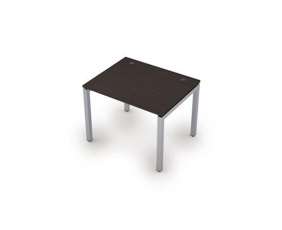 Стол прямой письменный на металлокаркасе (сечение 50х50,парящий эффект) AVANCE ALSAV 6М.587 Венге 1000х800х750, Цвет товара: Венге