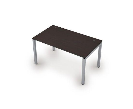 Стол прямой письменный на металлокаркасе (сечение 50х50,парящий эффект) AVANCE ALSAV 6М.589 Венге 1400х800х750, Цвет товара: Венге